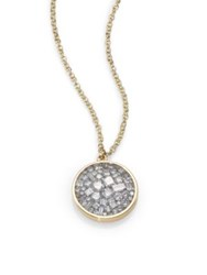 Plev Ice Diamond And 18K Yellow Gold Pendant Necklace