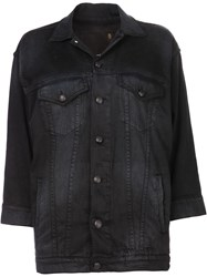 R 13 R13 'Oversized Trucker' Shirt Black