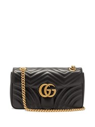 Gucci Gg Marmont Mini Quilted Leather Cross Body Bag Black