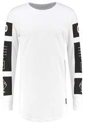 Jack And Jones Jcoanull Slim Fit Long Sleeved Top White
