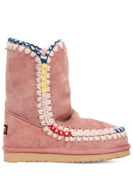 Mou 20Mm Eskimo Pop Shearling Boots Pink