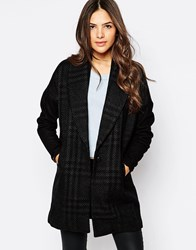 Y.A.S Textured Black Longline Coat