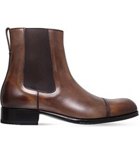Tom Ford Edgar Leather Chelsea Boots Brown