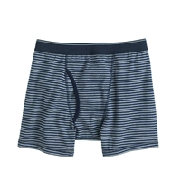 J.Crew Heather Graphite Stripe Knit Boxer Briefs Hthr Graphite