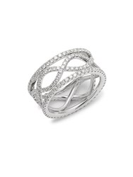 Kwiat Wave Diamond And 18K White Gold Ring Silver