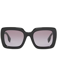 Burberry Oversized Square Frame Sunglasses Black