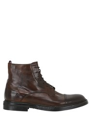 Silvano Sassetti Washed Horse Leather Lace Up Boots