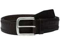 John Varvatos Laced Strap Belt With Harness Buckle Chocolate Men's Belts Brown