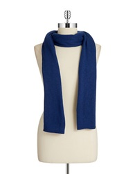 Lord And Taylor Siena Oversized Knit Scarf Blue