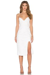 Nicholas Wave Lace Sweetheart Dress White