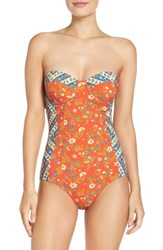 Tory Burch Women's Underwire One Piece Swimsuit