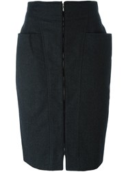 Gianfranco Ferre Vintage Zipped Skirt Grey
