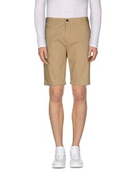 Suit Trousers Bermuda Shorts Men Beige
