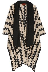 Missoni Crochet Knit Wrap Black