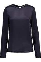 Tom Ford Satin Top Midnight Blue