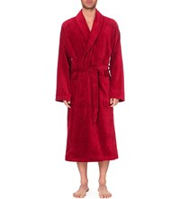 Derek Rose Tritan Cotton Dressing Gown Wine