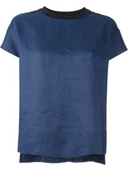 Dkny Pure Two Tone T Shirt Blue