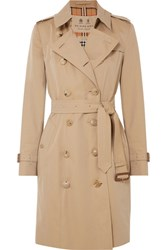 Burberry The Chelsea Cotton Gabardine Trench Coat Beige Gbp