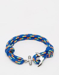 Jack And Jones Jack And Jones Anchor Rope Bracelet Blue