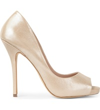 Kg By Kurt Geiger Dreamie Peep Toe Court Shoes Champagne
