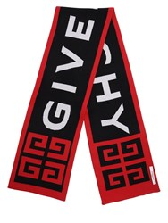 Givenchy Logo Cotton Scarf Black