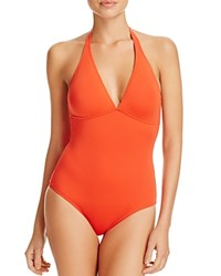 Vilebrequin Solid Water One Piece Swimsuit Poppy Red