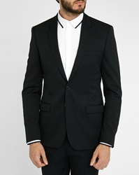 Sandro Black Notch Suit Jacket