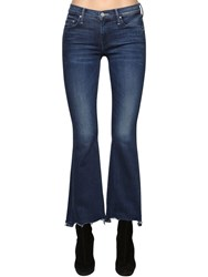 Mother The Weekender Cotton Denim Bootcut Jeans Blue