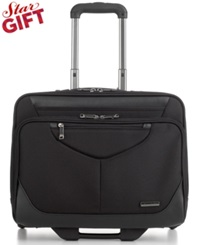Samsonite Rolling Mobile Overnighter Laptop Briefcase Black