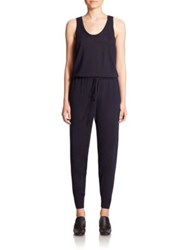 Stella Mccartney Knit Jogger Jumpsuit Dark Navy