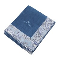 Etro Abbots Beach Towel With Border Navy