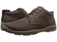 Skechers Relaxed Fit Harper Melden Chocolate Leather Men's Lace Up Boots Brown