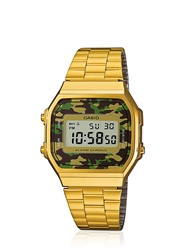G Shock Vintage Camouflage Watch Gold Green