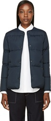 Ymc Navy Down Quilted Minimal Jacket