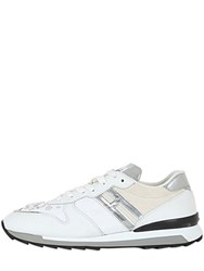 Hogan Rebel Embellished Leather And Suede Sneakers