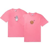 Vetements Two Pack Oversized Printed Cotton Jersey T Shirts Pink