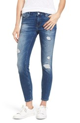 Mavi Jeans Women's Adrianna Ripped Skinny Ankle Destructed Country Vintage