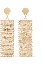 Eddie Borgo Fleece Gold Plated Cubic Zirconia Earrings One Size