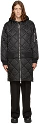 Hood By Air Black Against Quilted Bomber Jacket