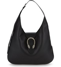 Gucci Dionysus Extra Large Leather Hobo Bag Black Multi