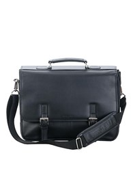 Kenneth Cole Reaction Leather Flap Portfolio Briefcase Black