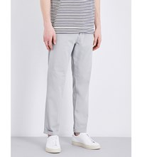 Closed Tapered Mid Rise Stretch Cotton Chinos Grey
