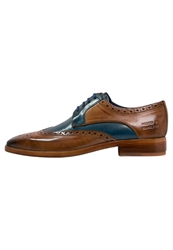 Melvin And Hamilton Lewis 3 Laceups Tan Mid Blue Brown