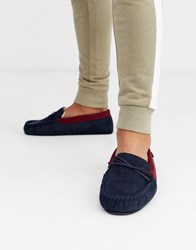 Totes Fox Novelty Slipper In Navy