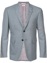 Thom Browne Single Breasted Sport Coat With Red Grey