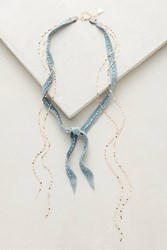 Anthropologie Layered Suede Choker Turquoise