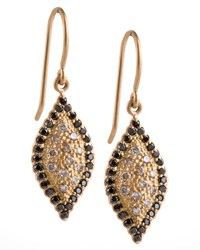 Scalloped Pave Diamond Marquise Earrings Jamie Wolf Red