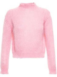 Filles A Papa Mohair Blend Knit Pink And Purple