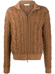 Cruciani Zipped Cable Knit Jumper 60