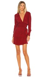 Ellejay Taylor Dress In Red. Red Houndstooth